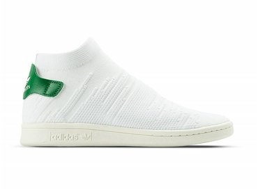 Adidas Stan Smith Sock PK W White White Green BY9252