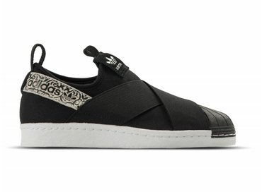 Adidas Superstar SlipOn W Black Black White BY9142
