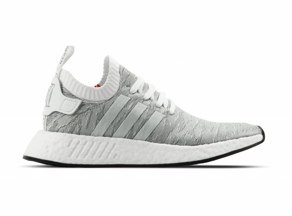 Adidas NMD R2 Primeknit Running White Core Black BY9410