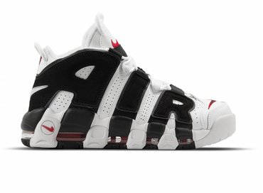 Nike Air More Uptempo White Black University Red 414962 105