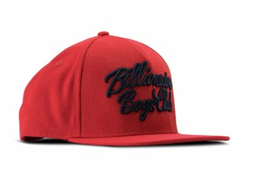 Billionaire Boys Club Script Logo Snapback Red B17369