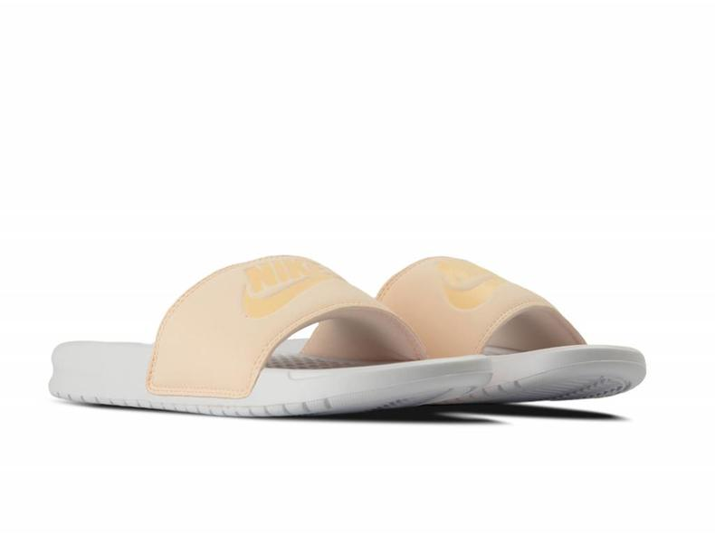 WMNS Benassi JDI Pastel QS Orange Quartz Ice Peache White AA4150 800