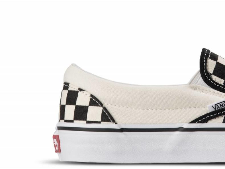 Classic Slip-on Bi Black White Checker White VN000EYEBWW