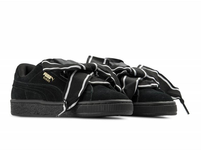 Suede Heart Satin II WN's Black Black 364084 01