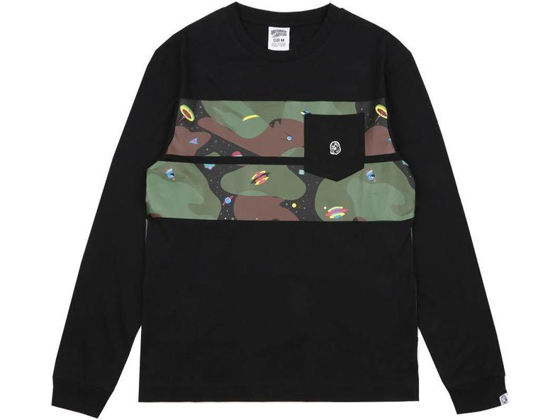 Space Camo Stripe L/S T-Shirt Black B17355
