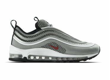 Nike W Air Max 97 Ultra '17 Metallic Silver Varsity Red 917704 002