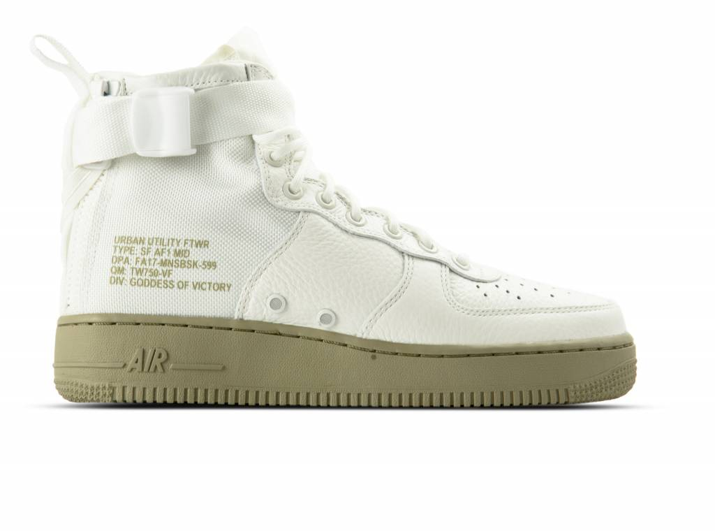 SF Air Force 1 MID Ivory Ivory Neutral Olive 917753 101