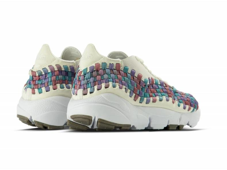 WMNS Air Footscape Woven Sail White Red Stardust 917698 100