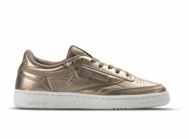Reebok Club C 85 Melted Metal W Pearl Met Grey Gold White BS7901