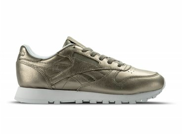 Reebok Classic Leather Melted Metal W Pearl Met Grey Gold White BS7898
