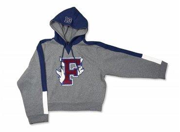 Puma X Fenty Hooded Panel Sweatshirt Charcoal Heather 575829 01