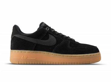 Nike Air Force 1 '07 LV8 Suede Black Gum Med Brown AA1117 001