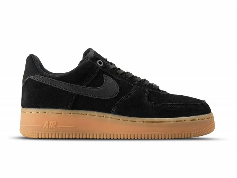 Nike Air Force Negro 1 '07 Lv8 Suede Negro Force Gum Med marrón Aa1117 001 2af13d