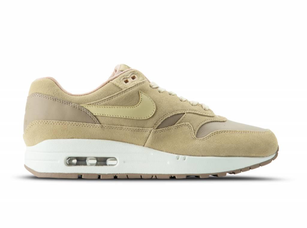 Nike Air Max 1 Premium LTR Khaki Team Gold Mushroom AH9902 201 a49714042