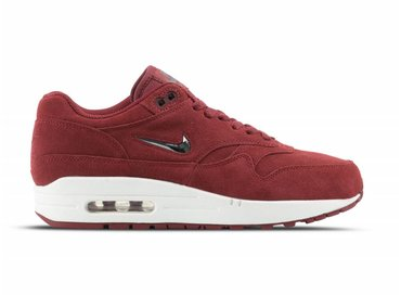 Nike Air Max 1 Premium SC Team Red Metallic Pewter 918354 600