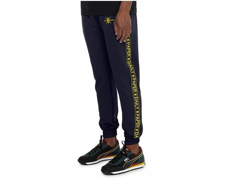 Navy Tape Logo Track Pants NOSB07