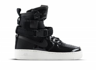 Nike SF Air Force 1 SE PRM Black black Reflect Silver AJ0963 001
