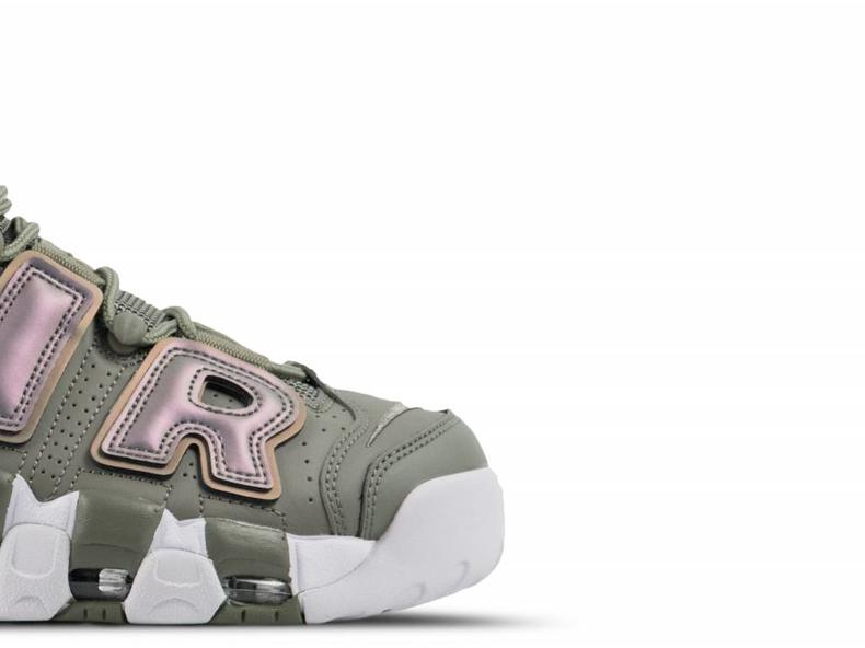 W Air More Uptempo Dark Stucco White Black 917593 001