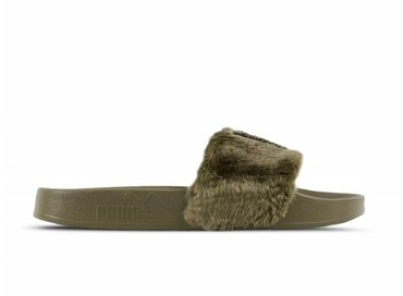 Puma Leadcat Fenty FU Fur Burnt Olive Puma Black 367089 01