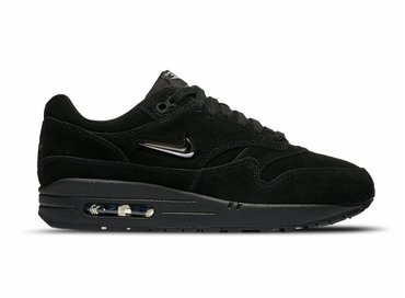 Nike WMNS Air Max 1 Premium CS Black Metallic Silver Wolf Grey AA0512 001