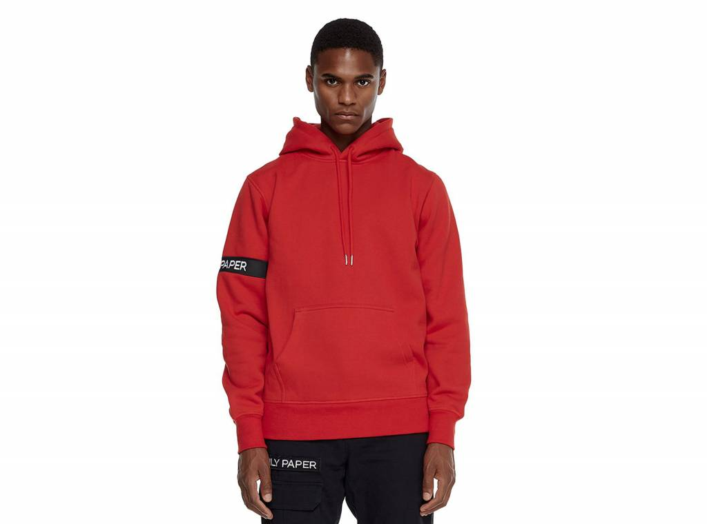 daily paper captain hoodie red nost34 bruut online shop bruut online shop sneakerstore. Black Bedroom Furniture Sets. Home Design Ideas