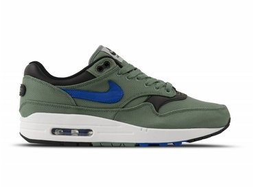 Nike Air Max 1 Premium Clay Green Hyper Royal White Black 875844 300