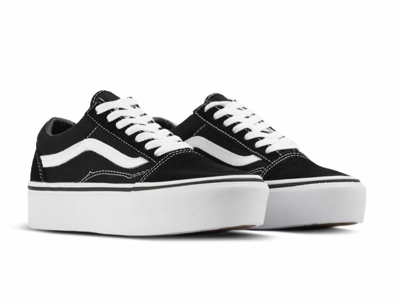 Old Skool Platform Black White VN10A3B3UY28