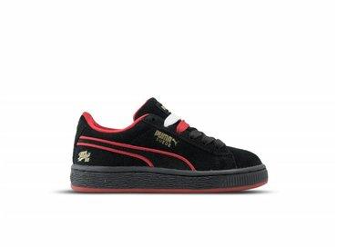 Puma Suede Classic Fubu BHM Inf Black High Risk Red Gold 367437 01