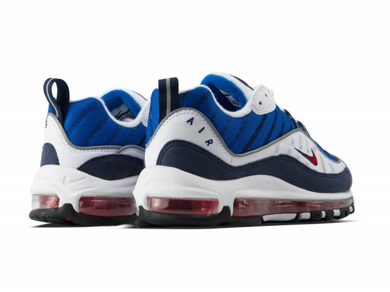 WMNS Air Max 98 White University Red Obsidian AH6799 100
