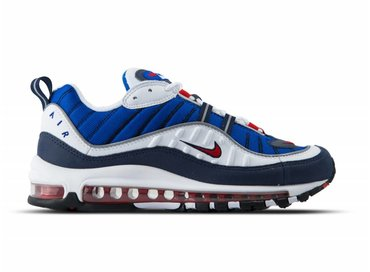 Nike Air Max 98 White University Red Obsidian 640744 100
