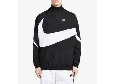 Nike Swoosh Half Zip Jacket Black White AJ2696 010