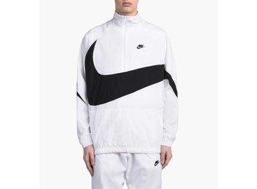 Nike Swoosh Half Zip Jacket White Black AJ2696 100