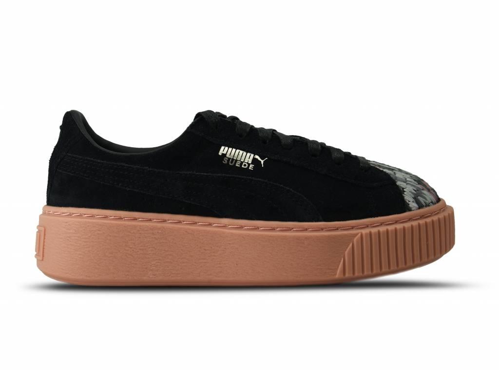 Platform Sunfade Stitch Wn's Puma Black Peach Beige 365907 02