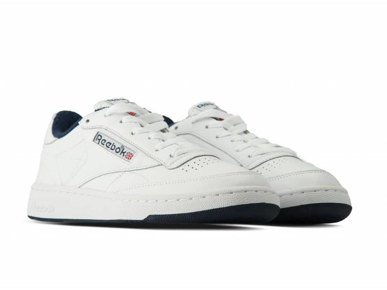 Club C 85 Archive White Collegiate Navy Red CN0646