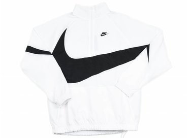 Nike Swoosh Half Zip Jacket White Black AJ2696 100