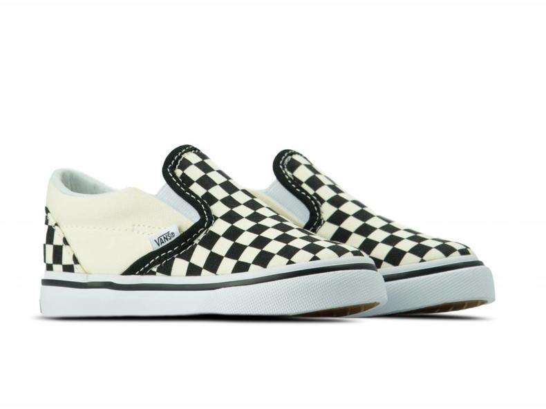 Classic Slip On TD Black White Checkerboard White VN000EX8BWW