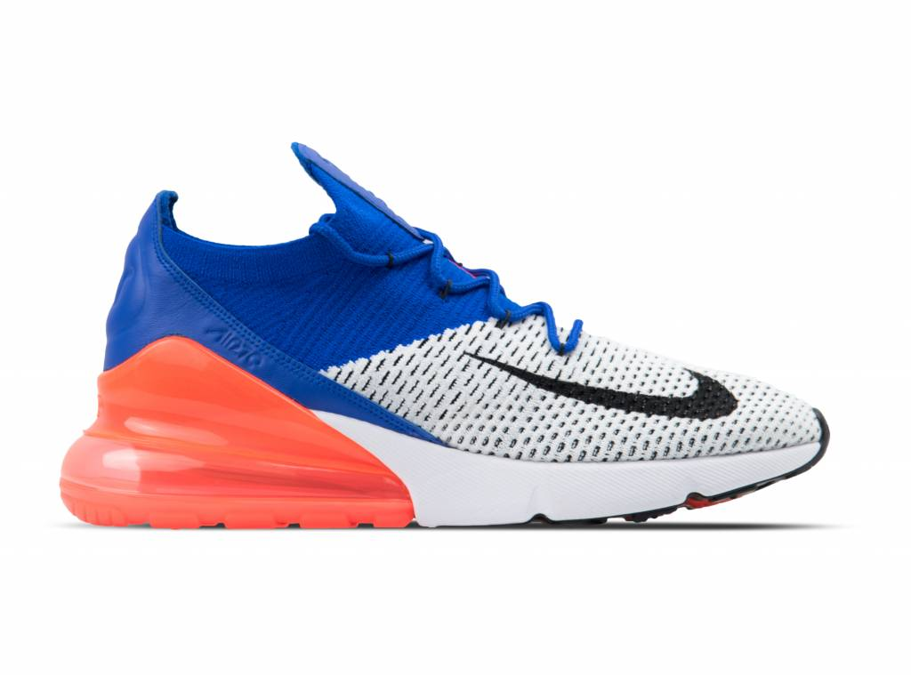 Aix Max 270 Flyknit White Black Racer Blue AO1023 101