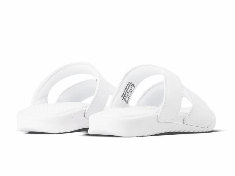 WMNS Benassi Duo Ultra Slide White Metallic Silver 819717 100