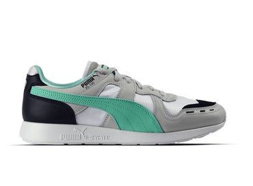 Puma RS 100 Re Invention Gray Violet Biscay Green White 367913 01