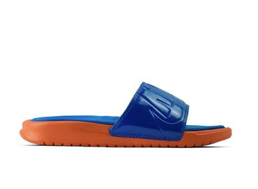 Nike WMNS Benassi JDI Ultra SE Vintage Coral Racer Blue AO2408 800
