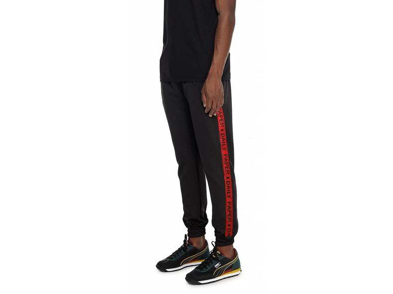 Black Red Tape Logo Track Pants  NOSB06