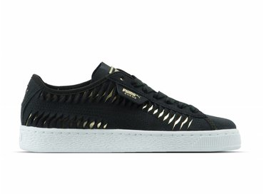 Puma Suede Metallic Entwine Wn's Puma Black Puma Team Gold 365471 02