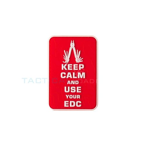 Jackets to Go JTG Keep Calm EDC PVC Patch Red