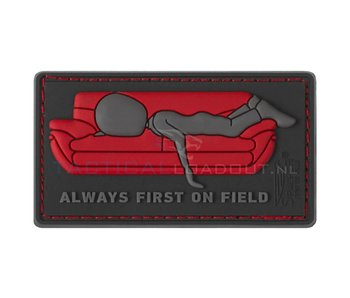 JTG Always First on Couch PVC Patch Red