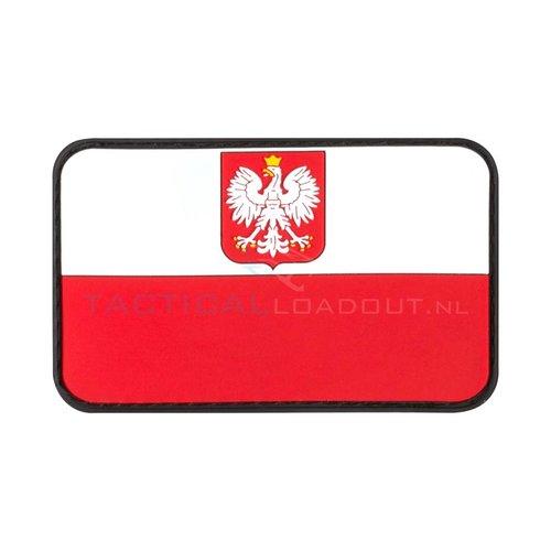 Jackets to Go JTG Rubber Poolse Vlag Patch