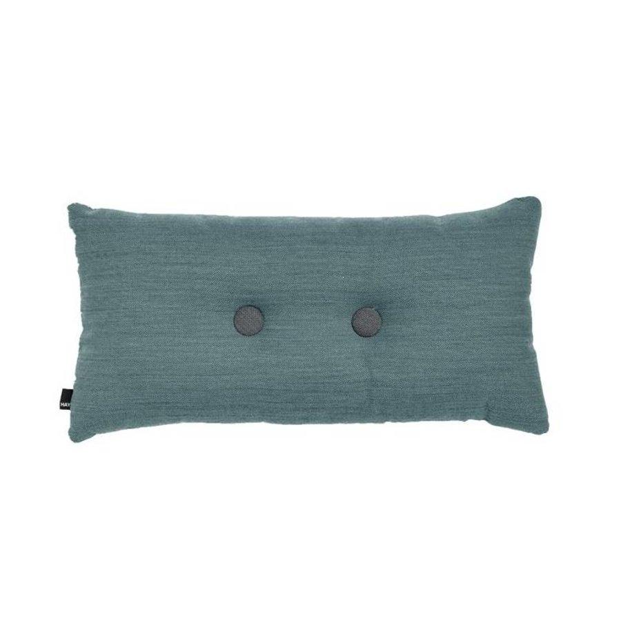 Double Dot Kussen Turquoise 36 x 70 cm