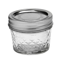 Mason Jar Kristal 120 ml - (6 stuks)
