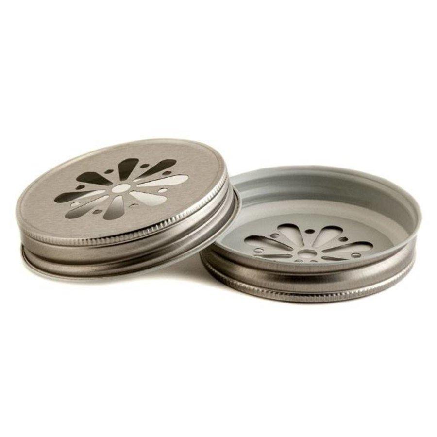 Deksel Madeliefje Zilver - (8 stuks)