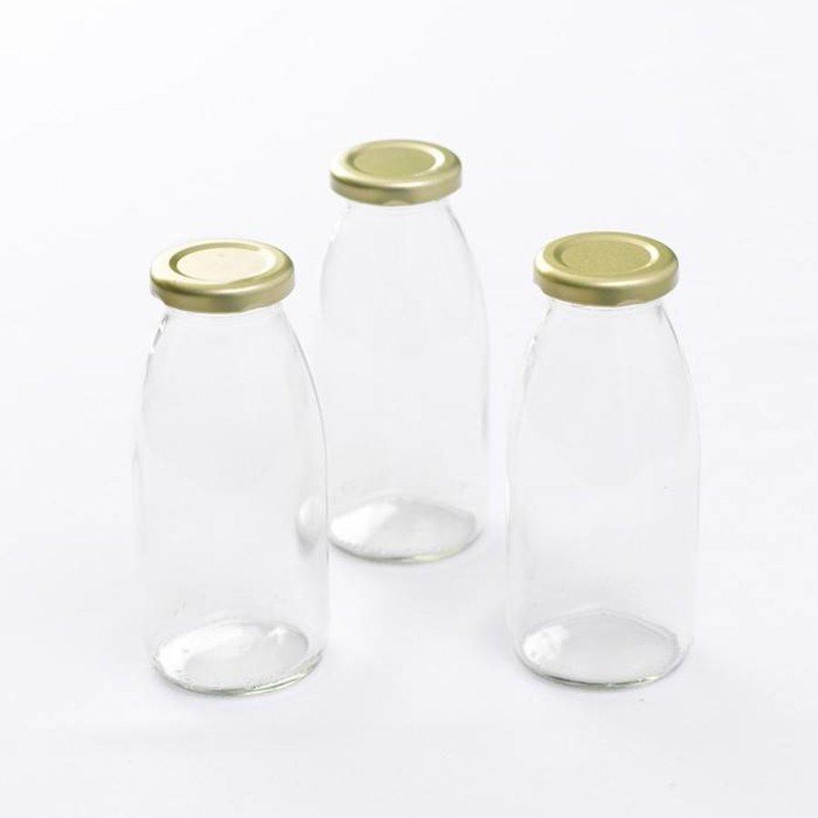 Retro Melkfles 250 ml - (6 stuks)