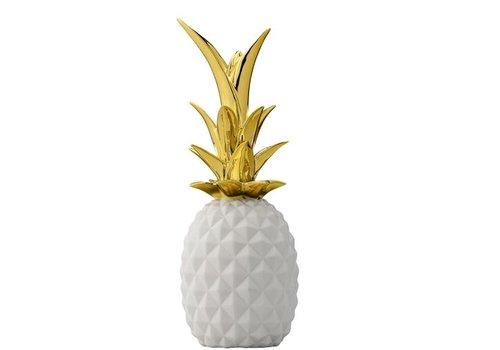 Bloomingville Ananas Wit/Goud
